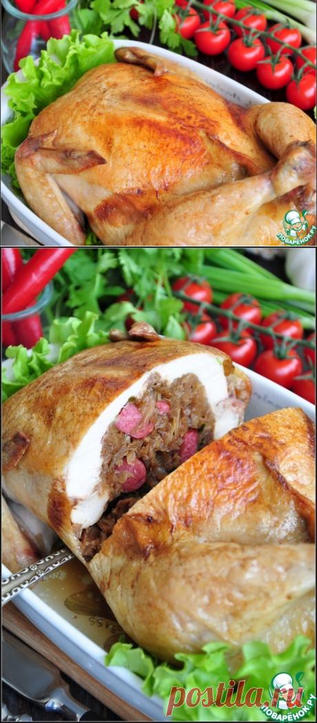 Фаршированная курица без костей – кулинарный рецепт