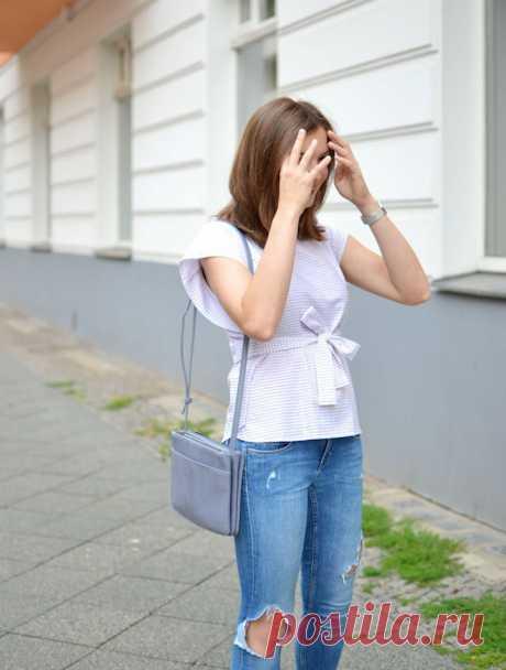 Блузка из мужской рубашки DIY - Вторая улица - медиаплатформа МирТесен