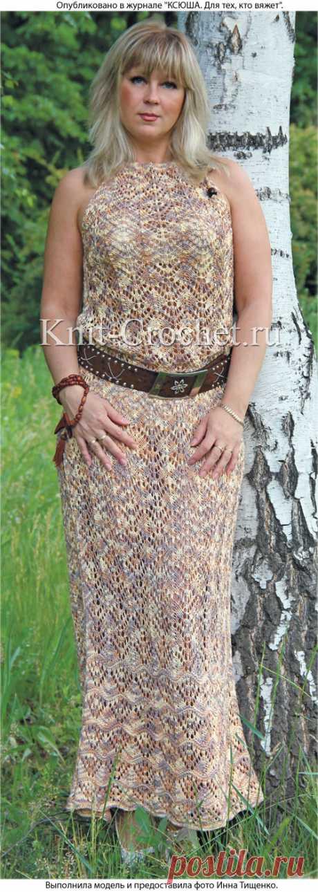 Длинное платье на спицах. - Платья, связанные спицами - Вязание спицами - Каталог статей - Вязание спицами и крючком