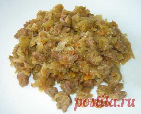 Рецепт приготовления вкусной капусты с мясом в мультиварке Поларис.
