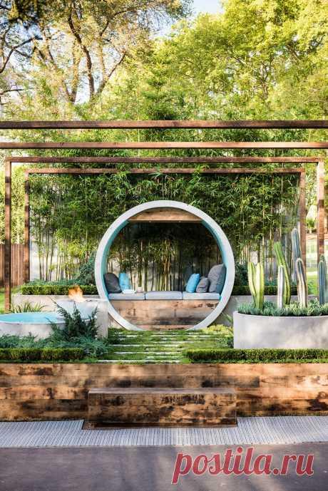 Интересная идея дизайна места для уединенного отдыха — Дом и Сад