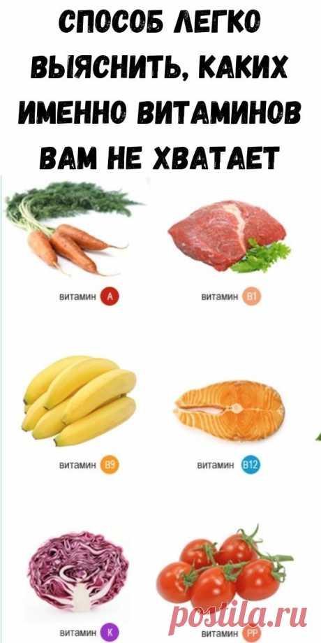 Способ легко выяснить, каких именно витаминов вам не хватает - Советы для тебя