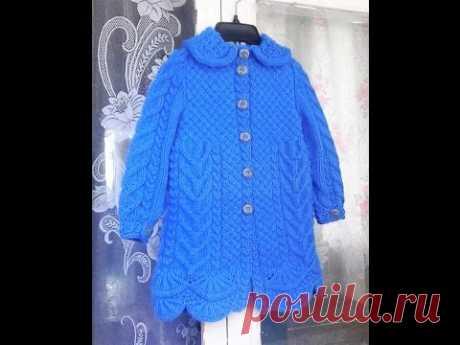 Пальто для девочки спицами. Часть 3 - вяжем рукава