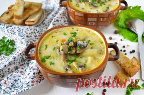 Сырный суп с шампиньонами : сливочный вкус из детства