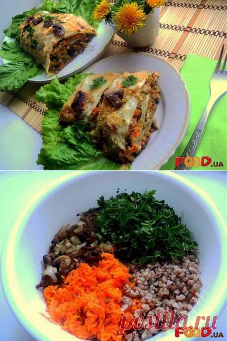 Рулет из капусты с гречкой и грибами - Кулинарные рецепты на Food.ua