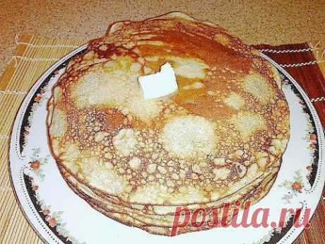 Pancakes from rye flour on kefir