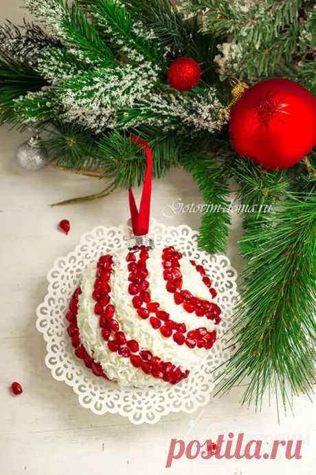 """Салат """"Новогодний шар"""" - Ваши любимые рецепты - медиаплатформа МирТесен"""
