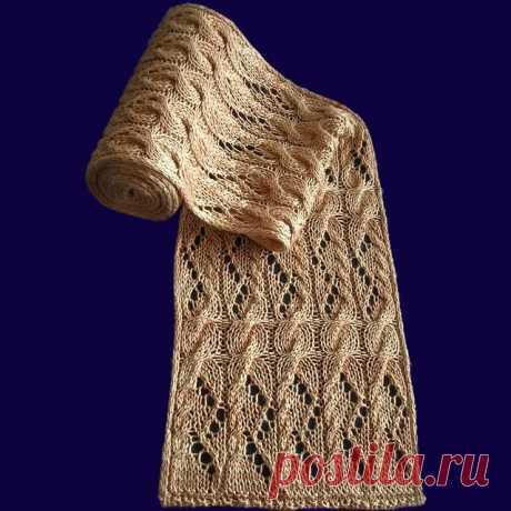 Вязание: шарф-палантин Feel Pretty