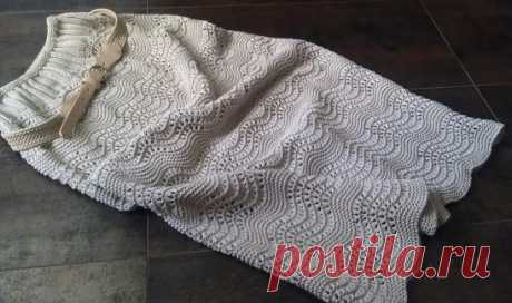Вяжем спицами юбку в стиле 70-х