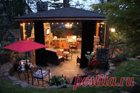 Зона отдыха на даче: как сделать уютный уголок, навес в саду своими руками, идеи, видео, фото