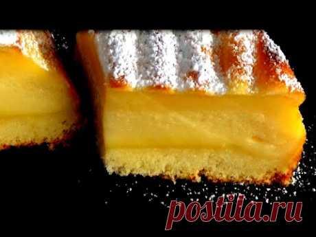 Это невероятно! Пирог  превращается в торт с кремом!  Вкусный Воздушный, а готовится всего 15 минут