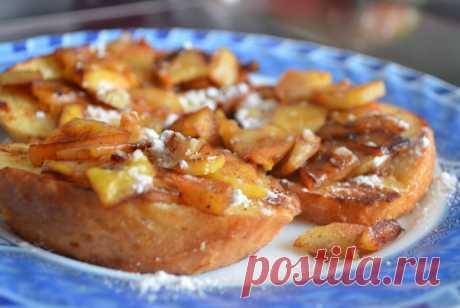 Яблочные тосты по-французски - рецепт с фото / Простые рецепты