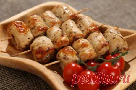 Куриные шашлычки на шпажках в духовке — Sloosh – кулинарные рецепты