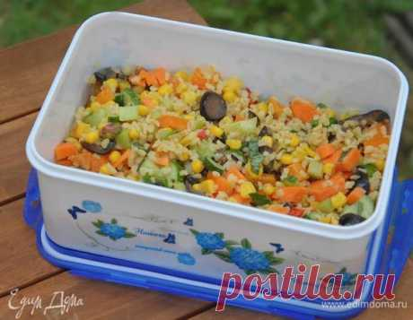 Rainbow salad with bulgury and orange gas station the recipe \ud83d\udc4c step-by-step   we Eat Houses with a photo culinary recipes from Yulia Vysotskaya
