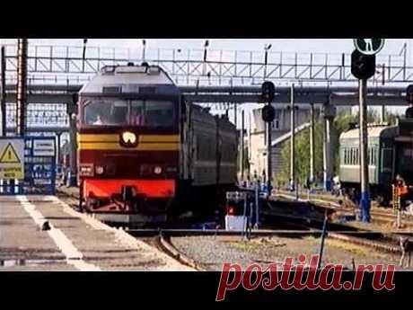 Россия из окна поезда.Нефтяные поля. - YouTube