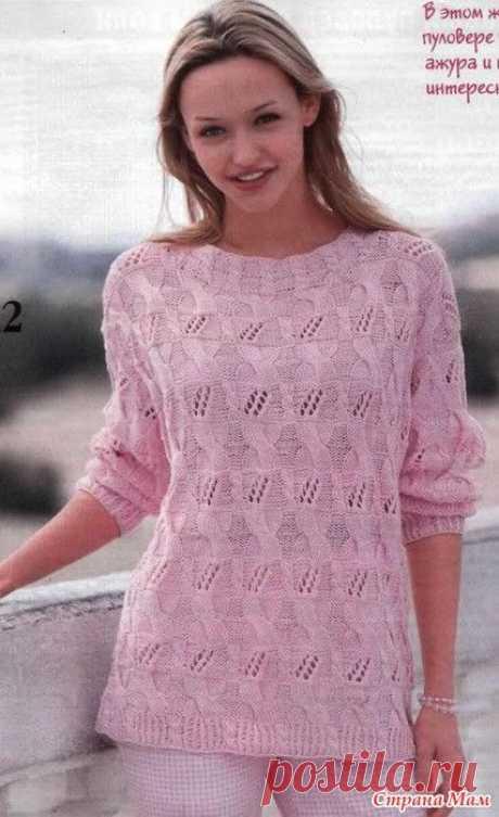 Изображение:Розовый пуловер | Вязанные свитера, Вязание, Модели вязаных свитеров Найдено в Google. Источник: pinterest.ru.