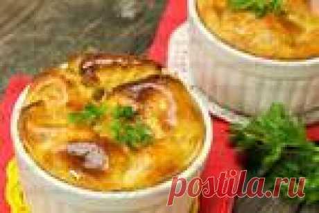 Картофельная запеканка с кефиром под сырной корочкой