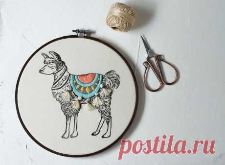 Прекрасная вышивка от влюбленной в вышивку! | Pro Handmade