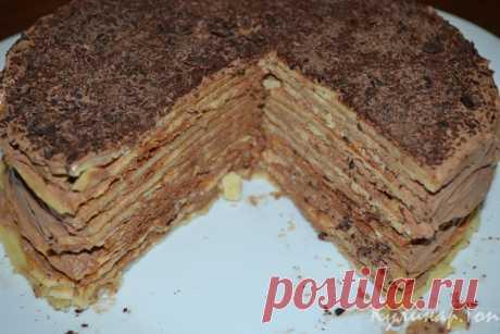 Шоколадный торт из домашних вафель ✾ Кулинар.Топ