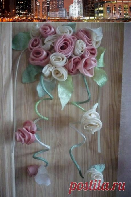 Подхваты для штор своими руками. Шьем розу для украшения — Блог Три и ночка