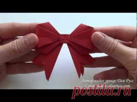 Как сделать Бант из бумаги   How to make a Paper Bow