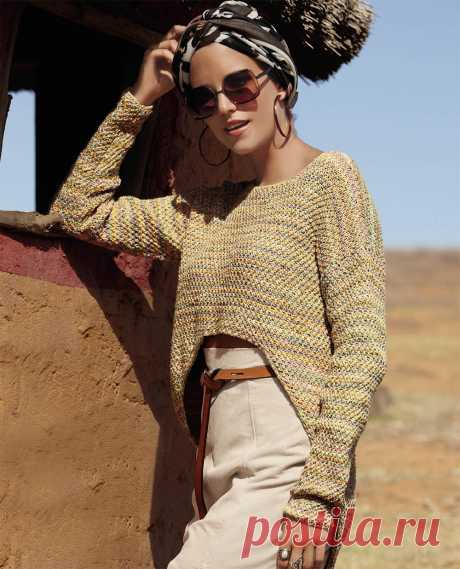 Asymmetric pullover - the scheme of knitting by spokes. We knit Pullovers on Verena.ru