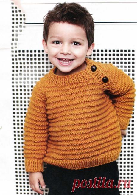 Свитер спицами для мальчика - Портал рукоделия и моды