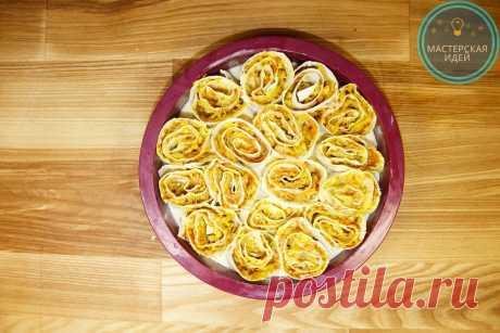 Пирог из лаваша и капусты: делюсь простым, бюджетным рецептом | Мастерская идей | Яндекс Дзен