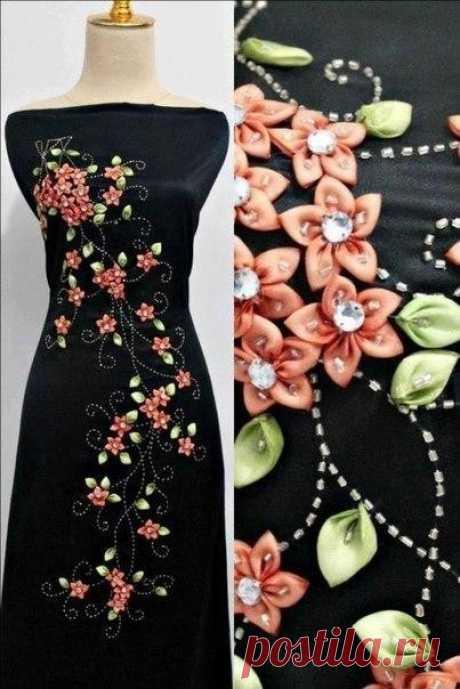 Декор платьев лентами. Невероятные идеи