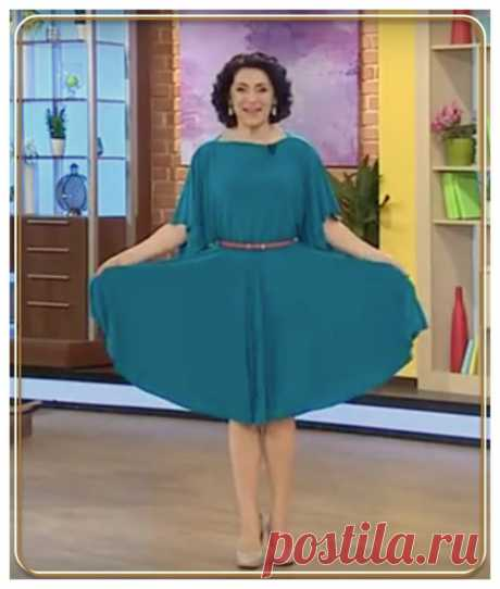 Нарядное платье одним швом