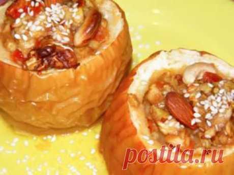 Запеченные яблочки - домашний рецепт от Простоквашино