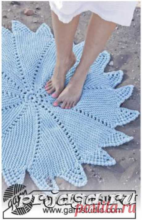 Клинья спицами на коврике