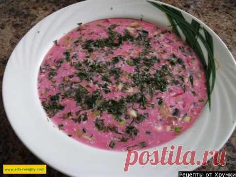 Свекольник на кефире классический холодный суп | Рецепт 1000.menu