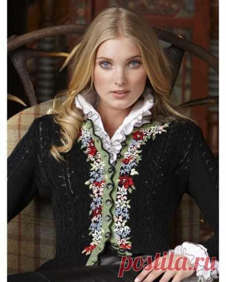 Вышивка на вязаном полотне — DIYIdeas