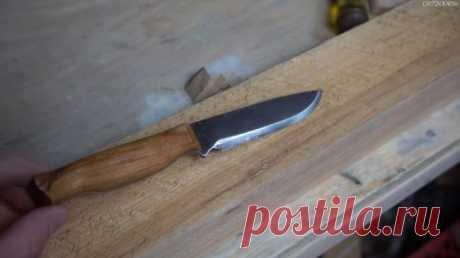 Простой нож из напильника без ковки и закалки
