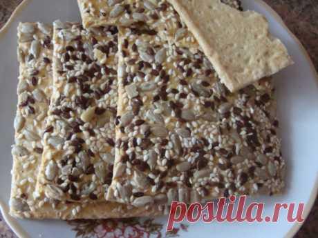 Кунжутно-льняные крекеры — Кулинарная книга - рецепты с фото