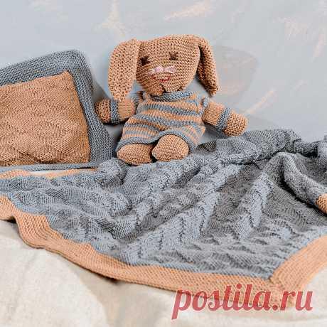 Покрывало и подушка с рельефным узором - Verena.ru