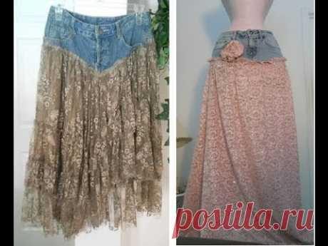 Как переделать  старые джинсы в стильную юбку или классные шорты