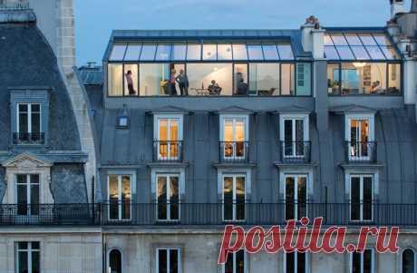 Квартиры на крыше здания 19-го века в Париже (Интернет-журнал ETODAY)