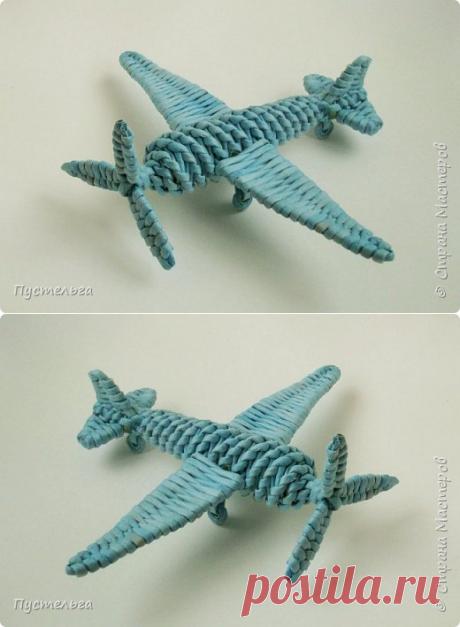 Плетеный бумажный самолетик