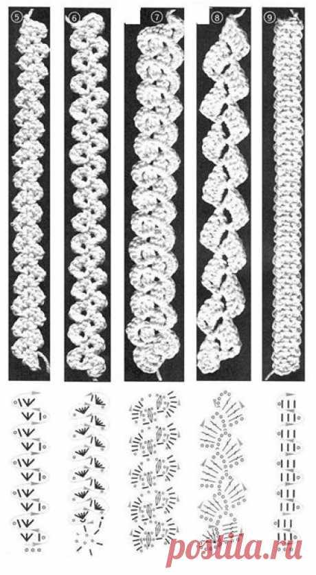 Тесьма вязанная крючком схема