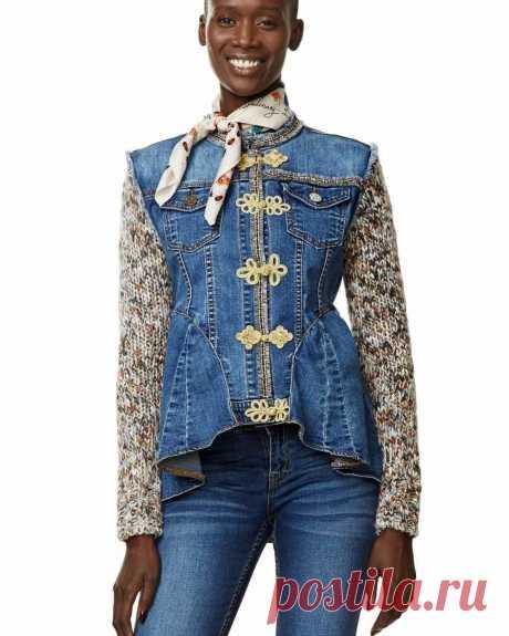 DESIGUAL Denim EXOTIC RUFFLES Jacket 17WWED22 | Canada US | Buy Online