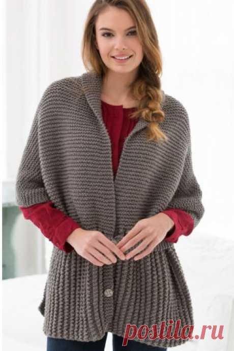Вязание крючком и спицами - Винтажный шарф-свитер