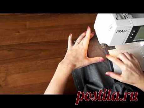 ▶ Урок 8 Как идеально ровно вшить потайную застёжку молнию - YouTube