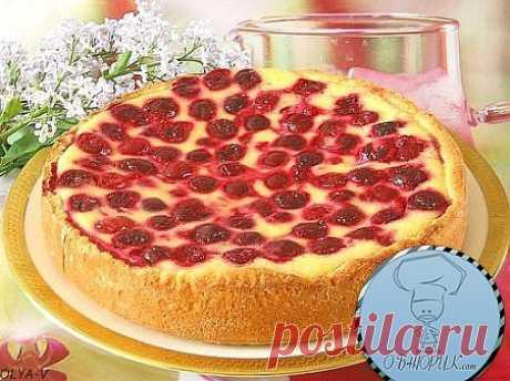 Вишневый пирог со сметаной.