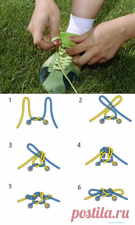 Как завязать шнурки, чтобы они никогда не развязывались | Лайфхакер