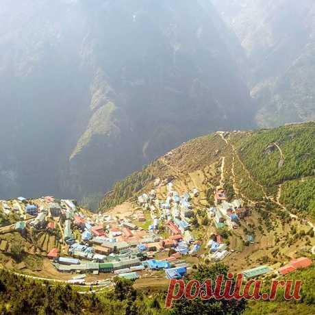Намче Базар. #гималаи,#намчебазар,#горы,#путешествия,#непал.