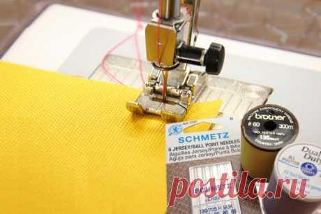 Как шить трикотаж | Трикотажная строчка без пропусков и петляния.