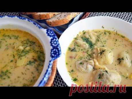 Суп с ленивыми галушками