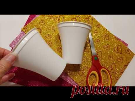 Всего лишь 2 СТАКАНА!😮а КАКАЯ КРАСОТИЩА получается из пластиковых стаканов♻ DIY идеи на день матери!